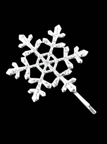 Silver Snowflake Shape Hair Accessories