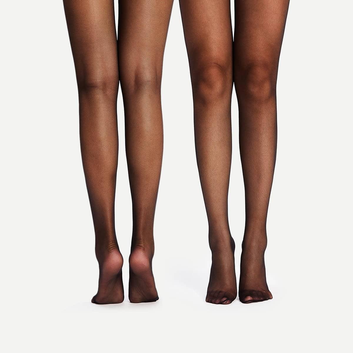 Donkere doorschijnende panty 2 paar