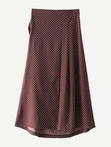 Pleated Detail Polka Dot Skirt