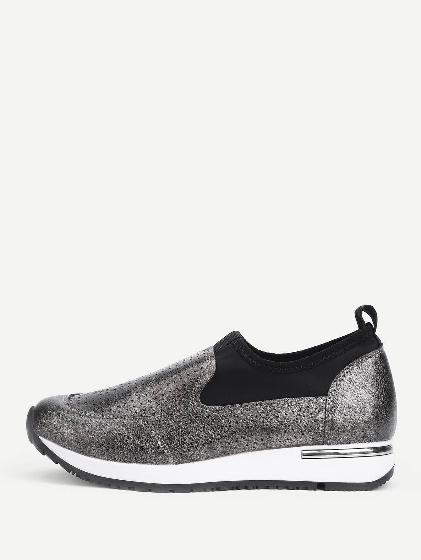 Low Top Slip On PU Sneakers
