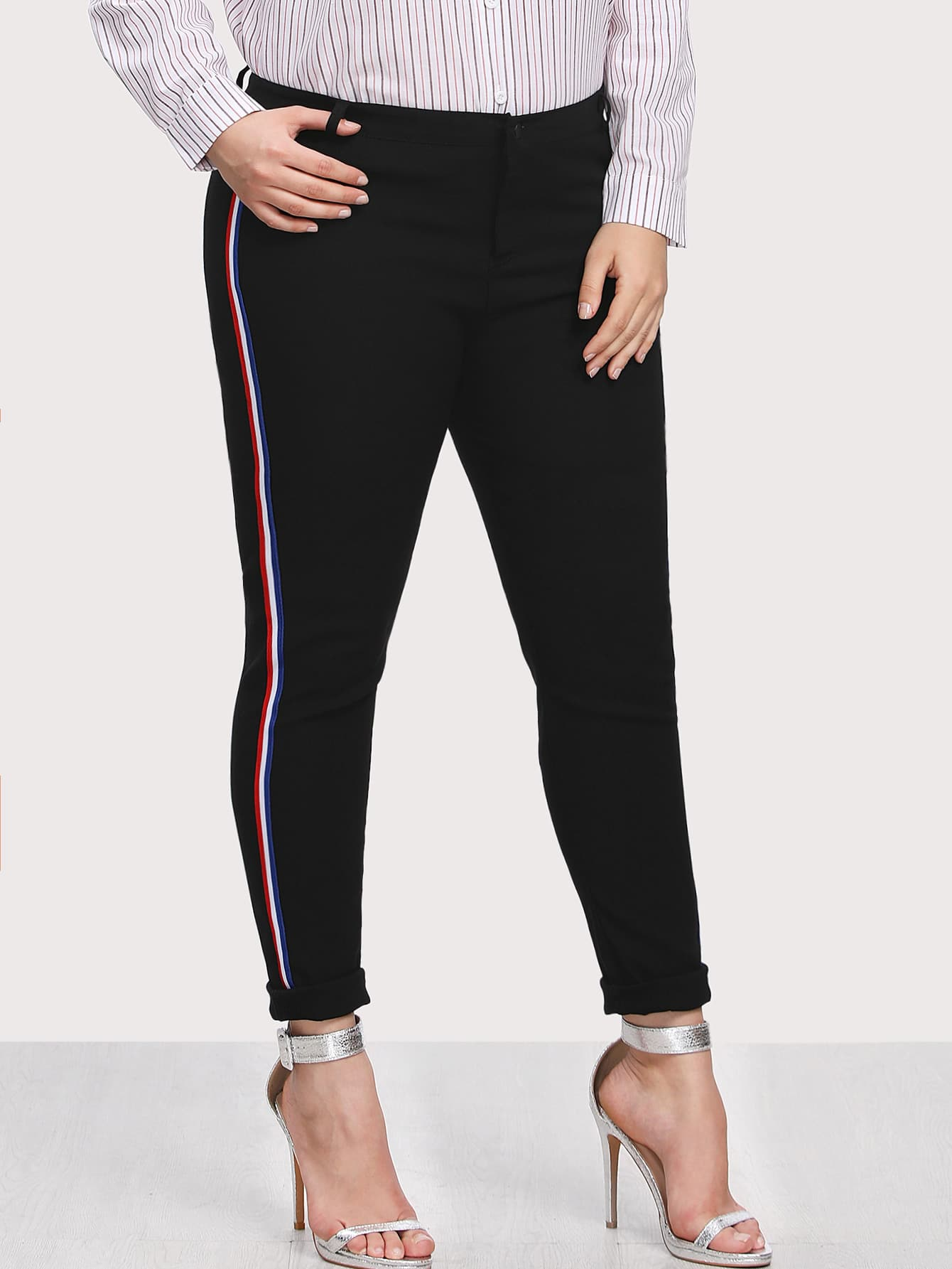 Image of Stripe Contrast Side Pants
