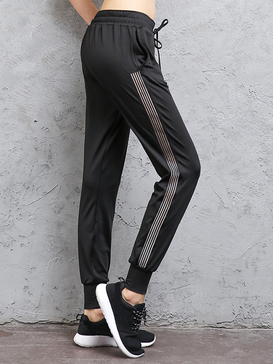 Image of Contrast Striped Side Drawstring Sweatpants