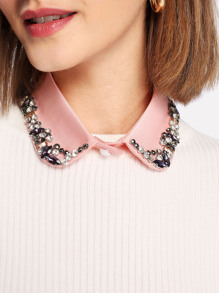 Rhinestone Decorated Collar