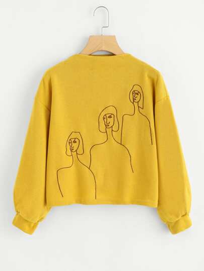 Figure Embroidered Sweatshirt