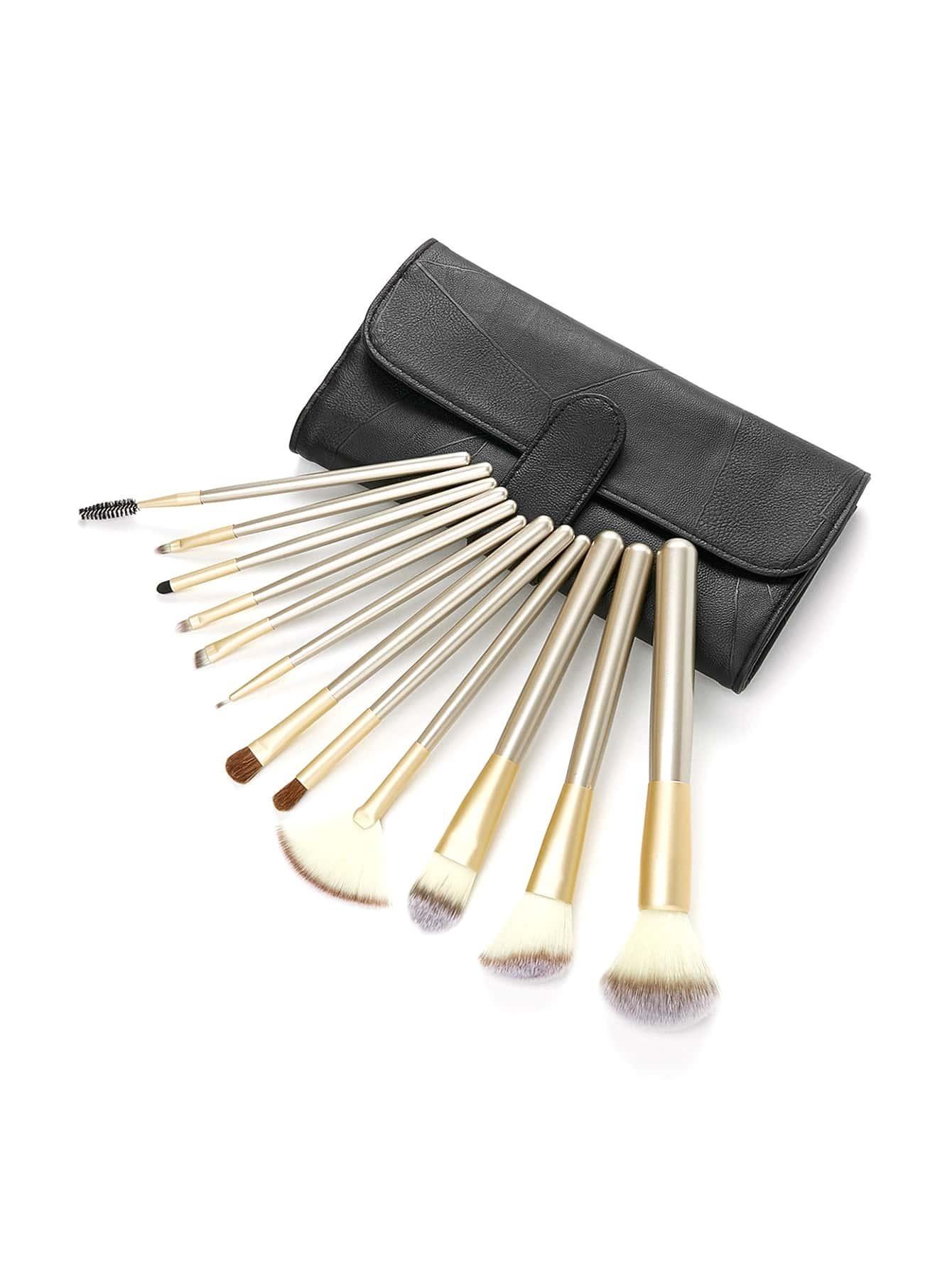 Image of Professional Makeup Brush Set 12pcs With Bag