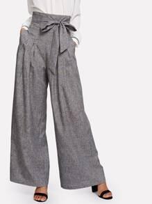 Pantalons plissé avec ceinture