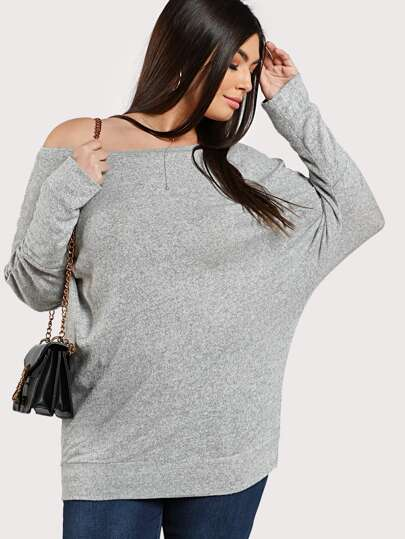 Marled Knit Dolman Sleeve Top