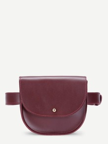 Saddle Flap PU Bum Bag