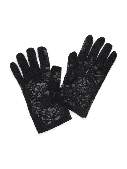 Embroidered Lace Gloves