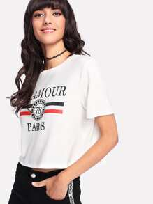Crop Graphic T-shirt
