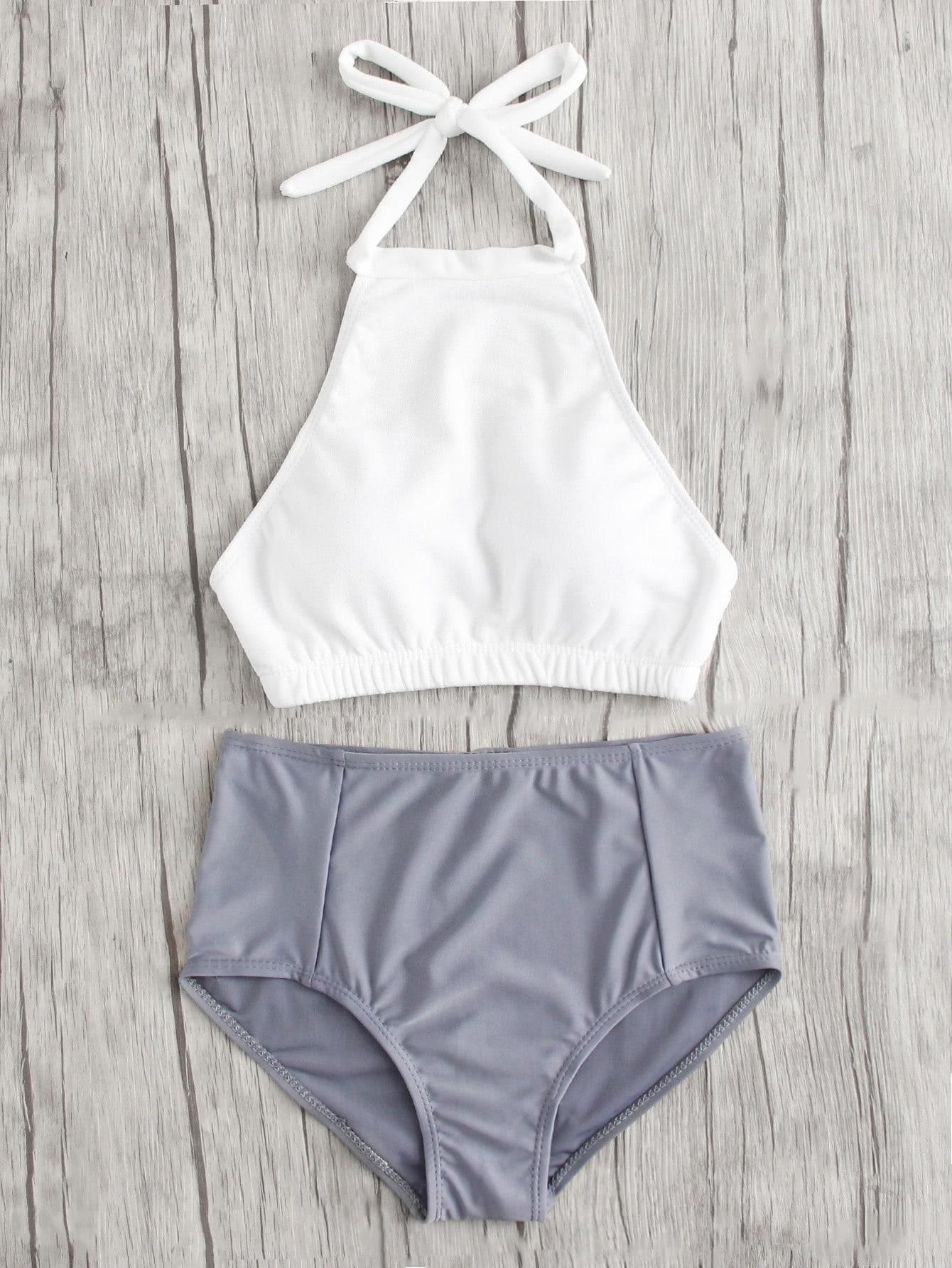 Mix And Match High Neck Bikini Set cross wrap mix and match bikini set