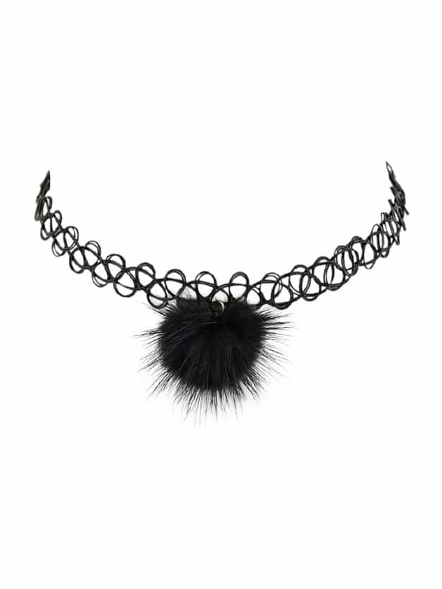 Black Tattoo Choker Ball Charm Choker Necklace nike wmns studio wrap 3 prt 684864 601