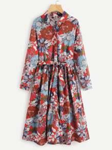 Self Tie Floral Dress
