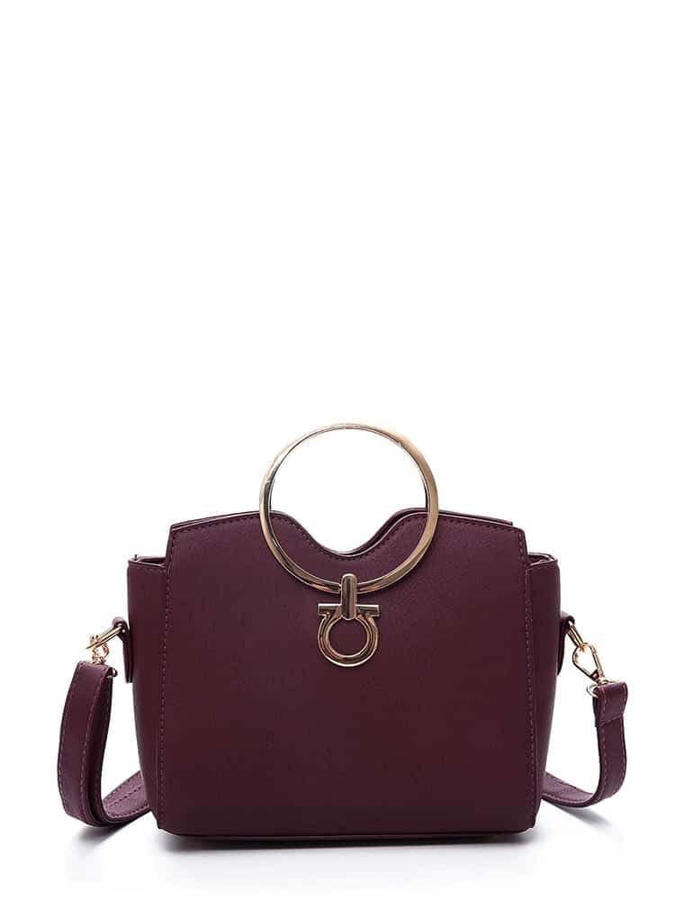 PU Shoulder Bag With Ring Handle все цены