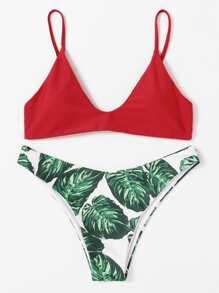Jungle Print Mix And Match Bikini Set