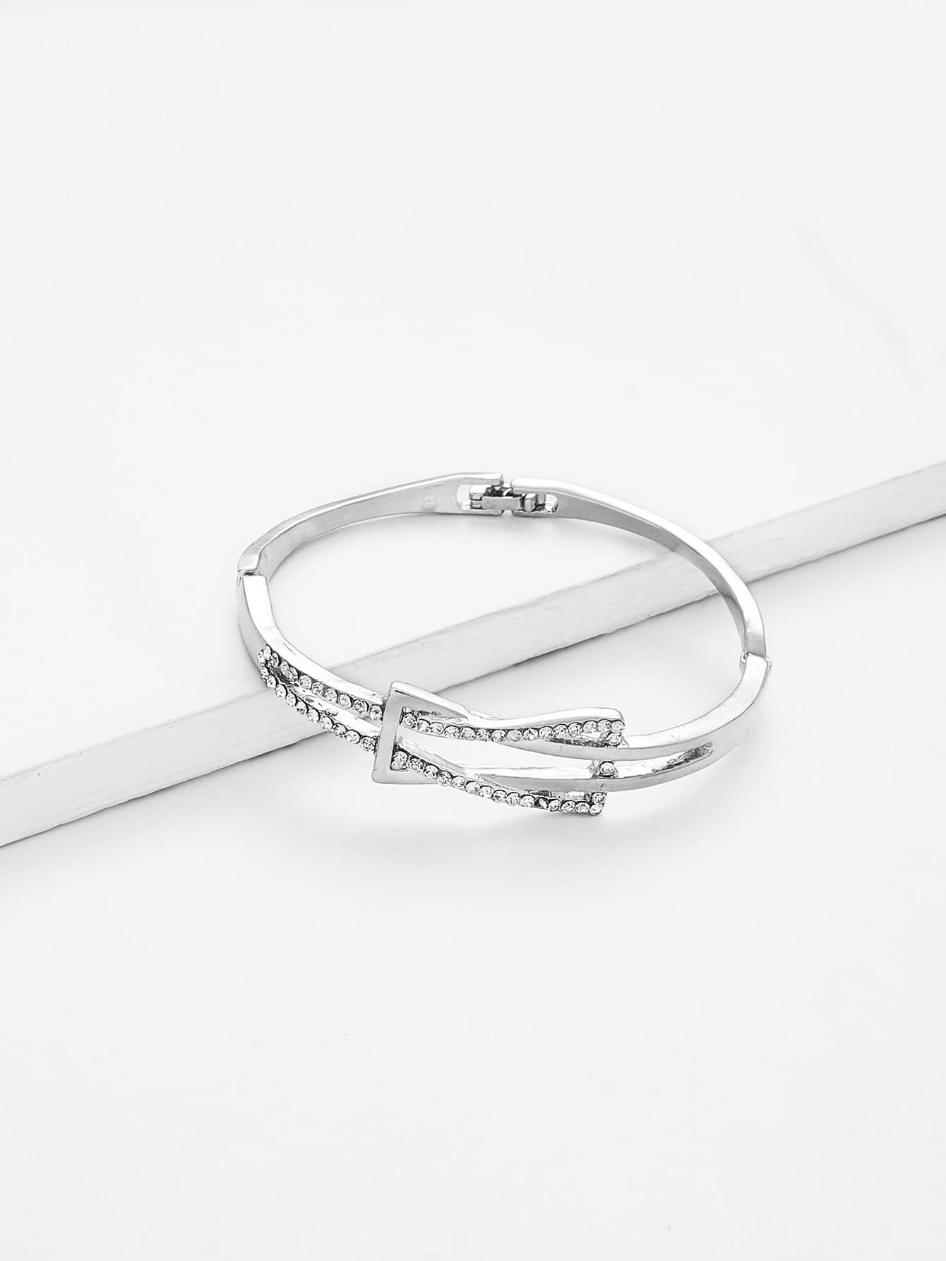 Rhinestone Detail Wrap Bangle Bracelet