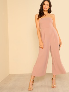 Wide Legged Jumpsuit with Pockets BLUSH