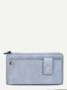 Zipper Side Design PU Wallet