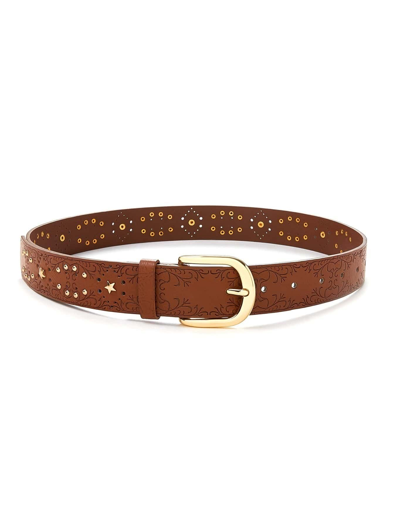 Star Decorated Belt metal decorated belt