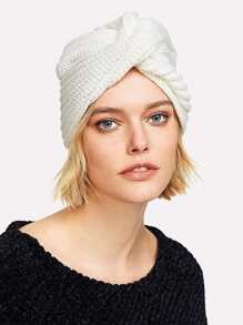 Twist Knit Beanie Hat