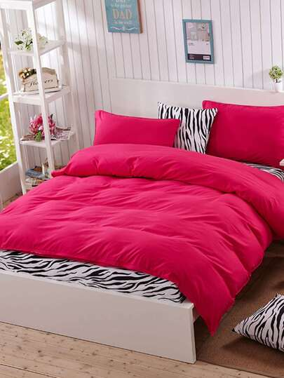 1.2m 4Pcs Zebra Print Duvet Cover Set