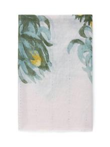 Chrysanthemum Print Soft Scarf