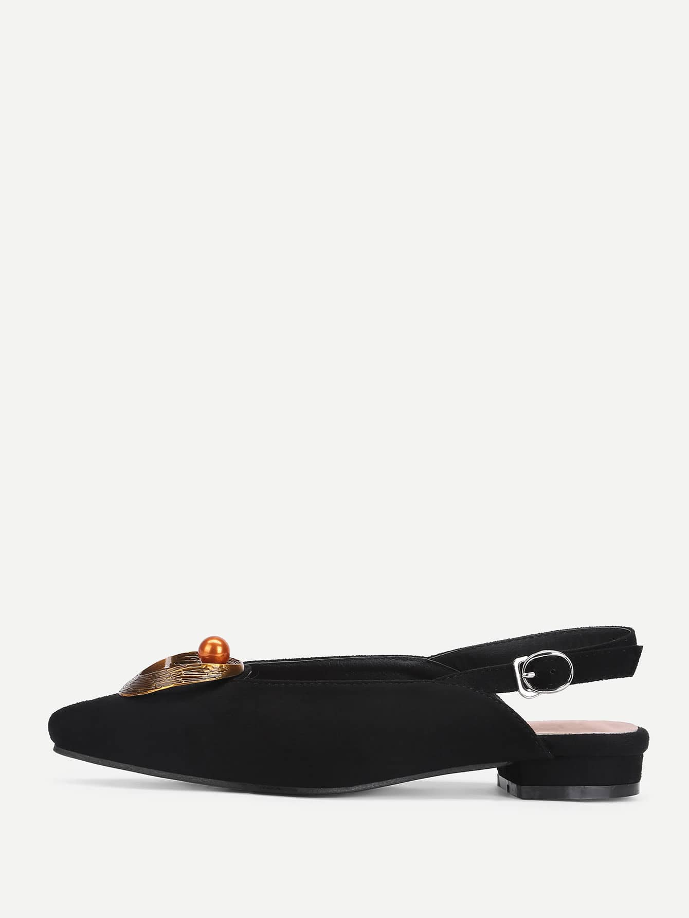 Image of Bead Detail Pointed Toe Flats