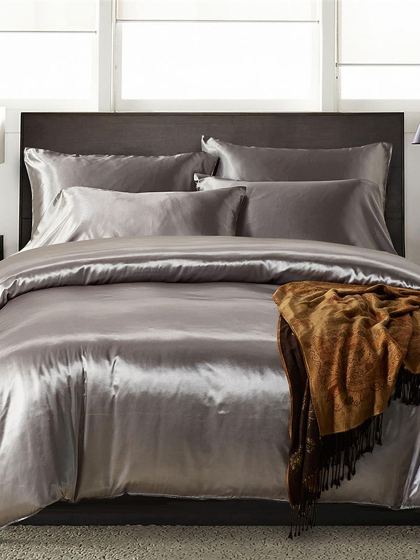 1.8m 3Pcs Simple Solid Colour Bed Sheet Set бра leds c4 bed 05 2830 34 34