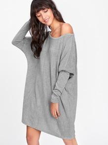 Batwing Sleeve Sweater Dress