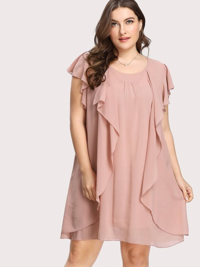 Tulip Sleeve Flounce Dress