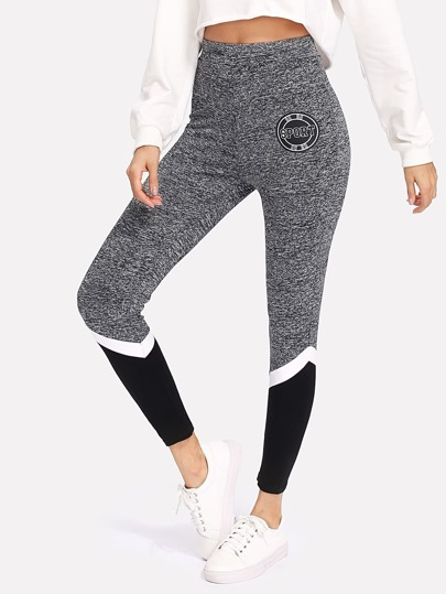 Leggings Marled cut e sew