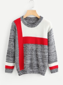 Color Block Space Dye Jumper
