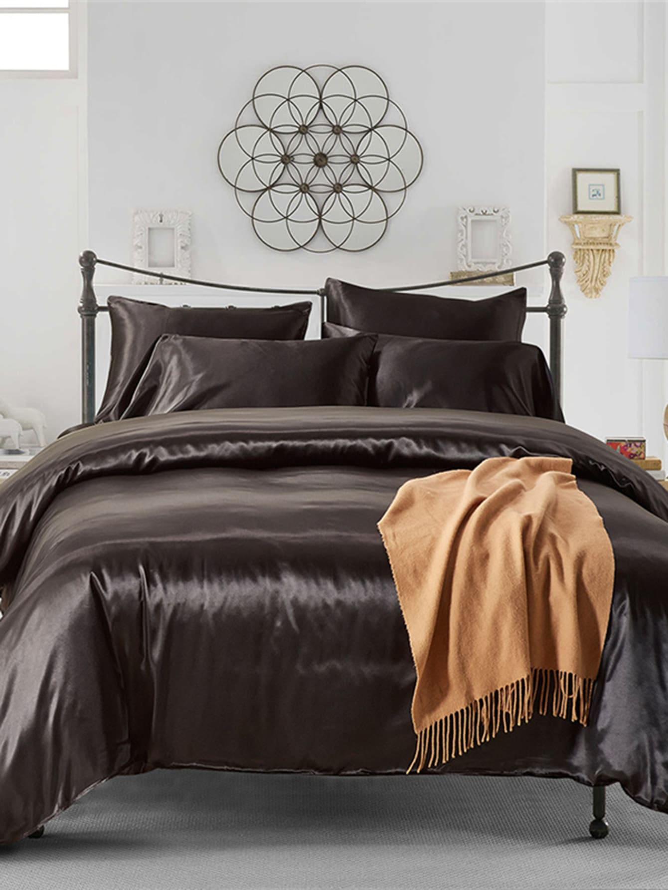 2.0m 3Pcs Simple Solid Colour Bed Sheet Set