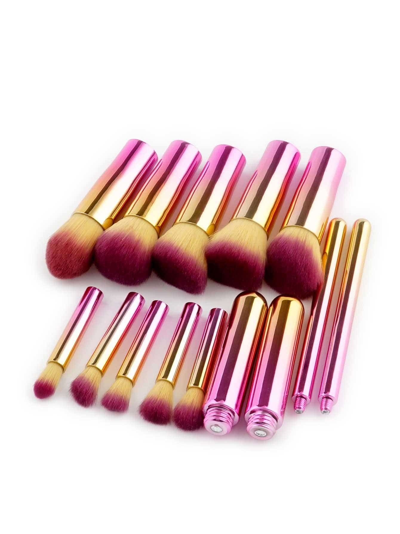 Image of Ombre Design Makeup Brush 10pcs