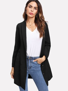 Single Breasted Longline Blazer