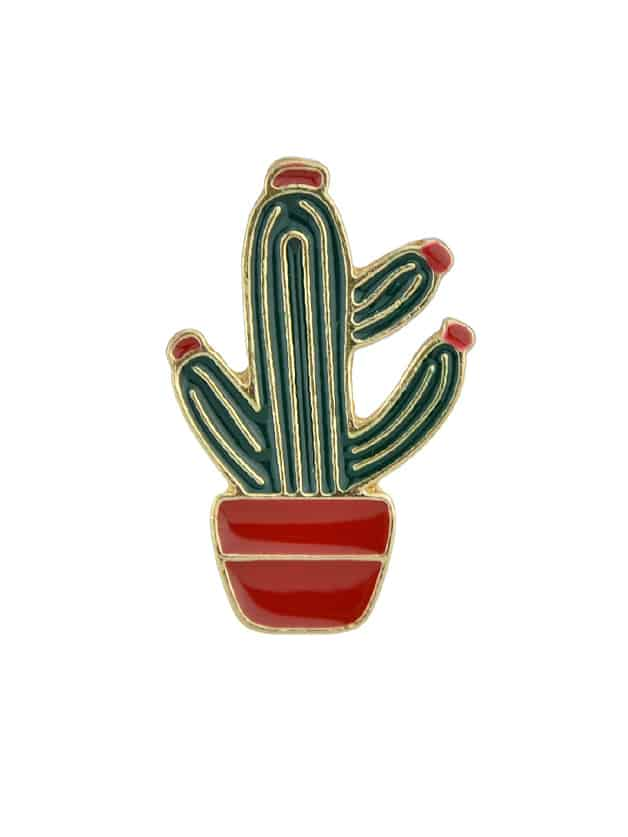 Cactus Cartoon Metal Badges Colorful Enamel Brooch For Women Girl Accessories