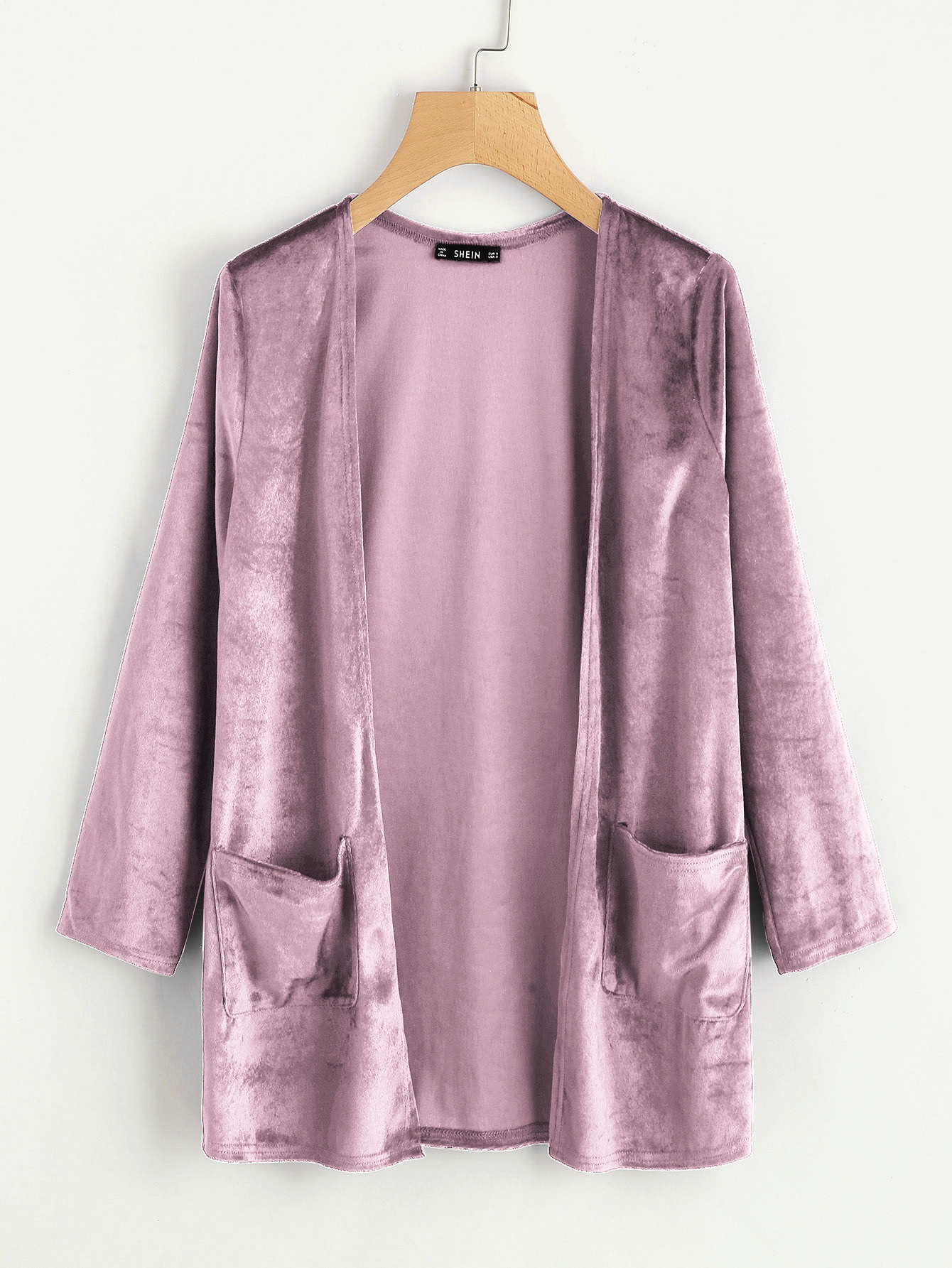 Pocket Front Velvet Coat