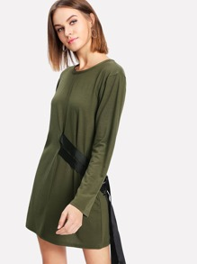 Ribbon Detail Tee Dress