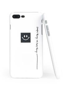 Emoji & Slogan Print iPhone Case