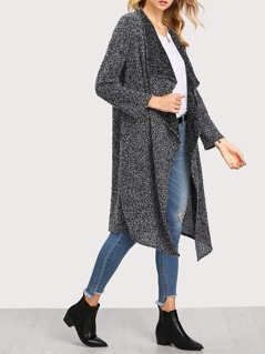 Longline Waterfall Boucle Coat
