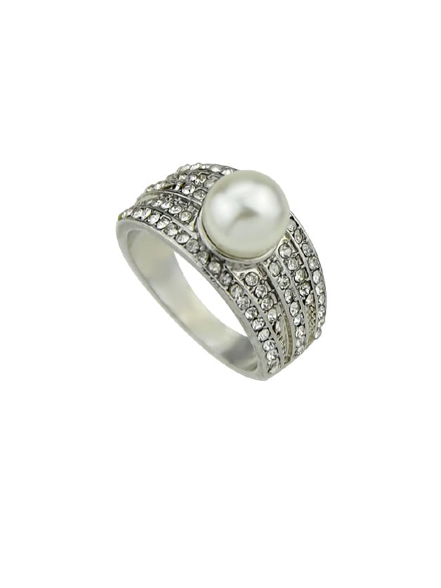 Wedding Jewelry Simulated-Pearl Bride Finger Rings
