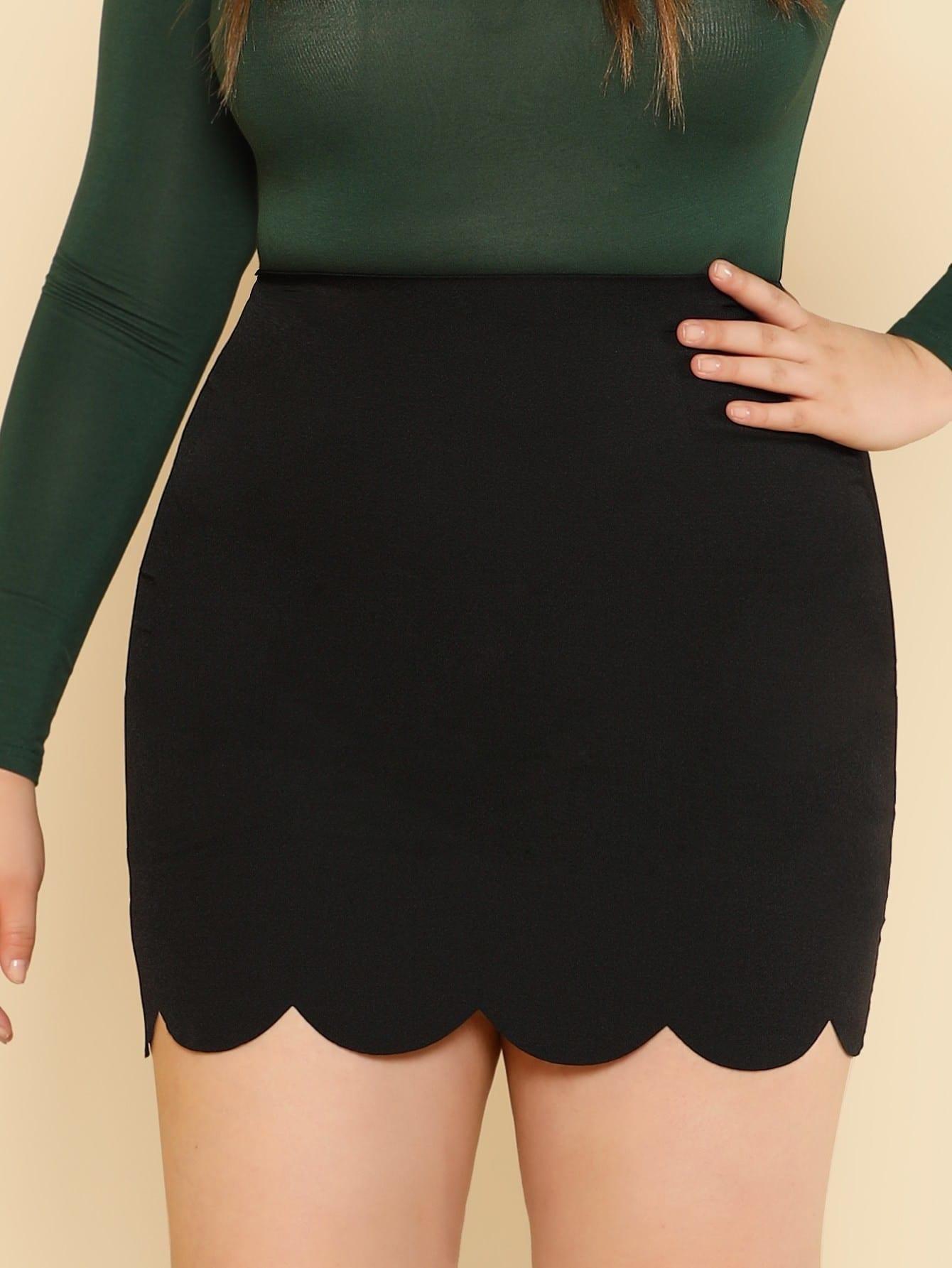 Купить Модная юбка с фестонами, Bailey Carr, SheIn