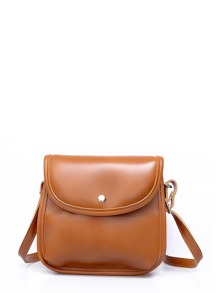 Flap PU Crossbody Bag