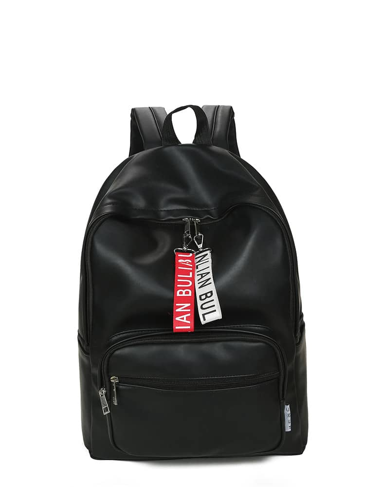 Slogan Ribbon Zip Around Backpack slogan detail zip around wallet