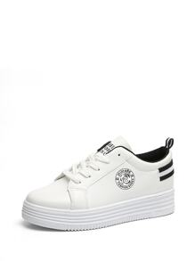 Striped Detail Platform Sneakers
