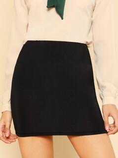 Elastic Waist Bodycon Skirt