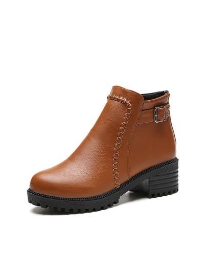 Stitch Trim Lug Sole Boots