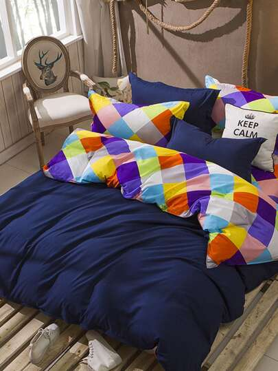1.2m 4Pcs Patchwork Bed Sheet Set