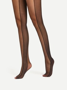 Two Tone Mesh Tights