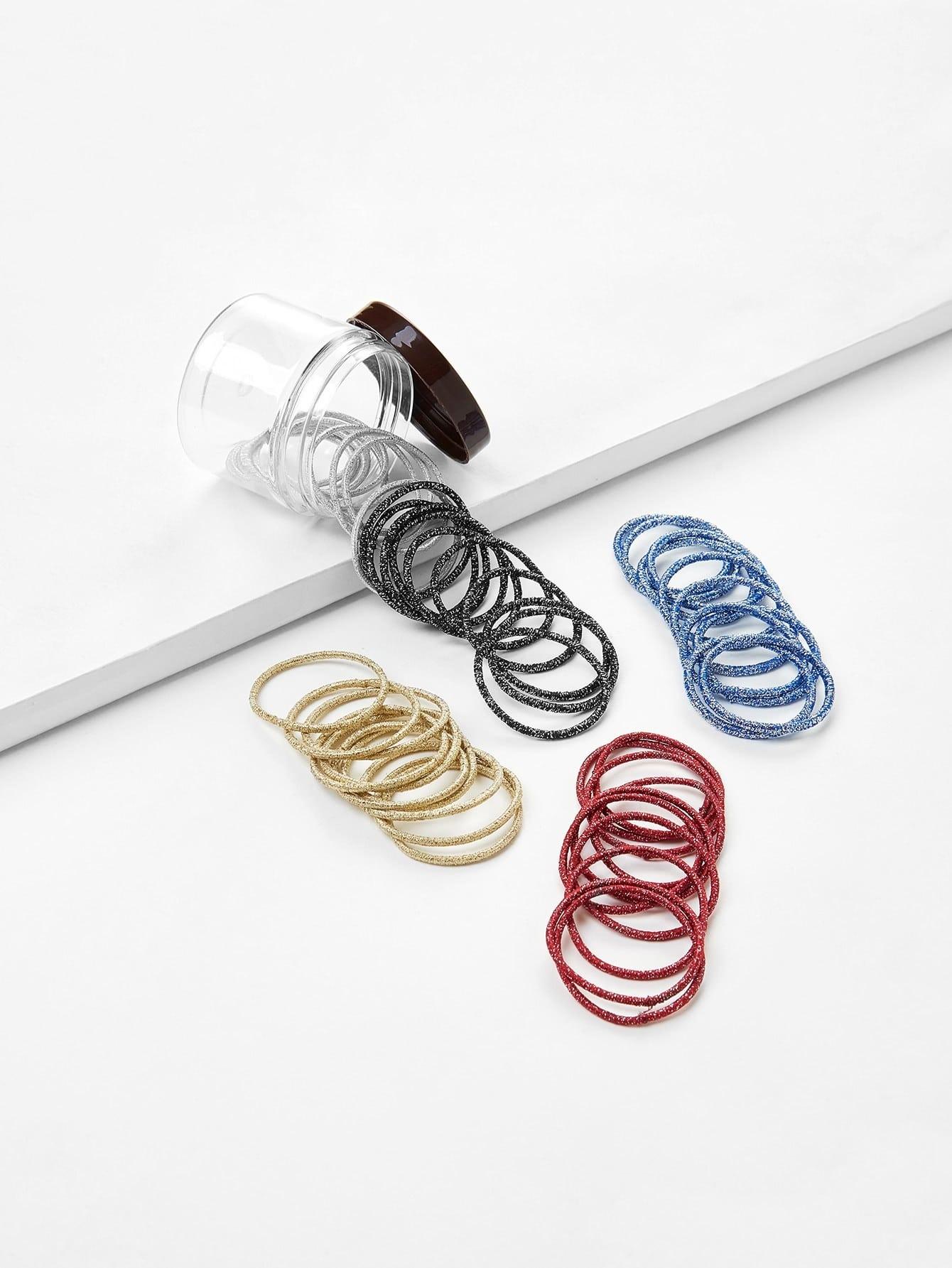 Glitter Hair Tie 50pcs 50pcs ld7530apl ld7530pl